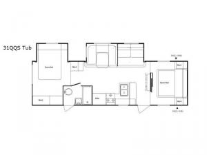 Riverside 31QQS-Tub Floorplan Image