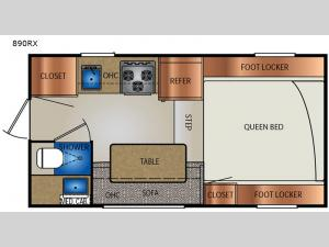Extended Stay 890RX Floorplan Image