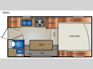 Extended Stay 960RX Floorplan Image