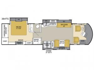 Sportscoach Cross Country SRS 364TS Floorplan Image