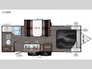 Aura A-23RB Floorplan Image