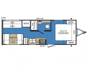 Clipper Ultra-Lite 21RD Floorplan Image