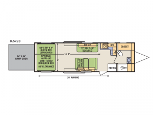 Quicksilver VRV 8.5 x 28 Floorplan Image