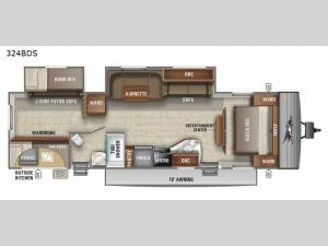Jay Flight SLX 8 324BDS Floorplan Image