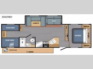 BX Series 300DRBH Floorplan Image