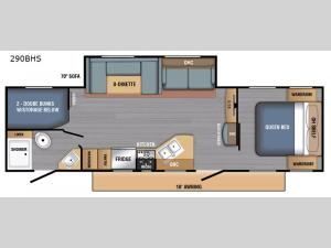 BX Series 290BHS Floorplan Image