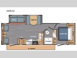 BX Series 290RLSA Floorplan Image