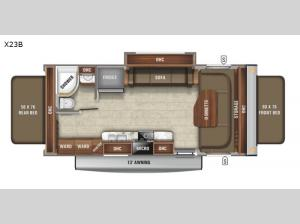 Jay Feather X23B Floorplan Image
