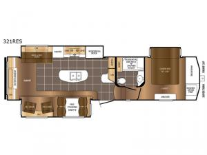 Crusader 321RES Floorplan Image