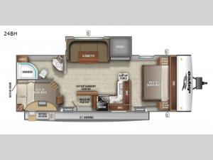 Jay Feather 24BH Floorplan Image
