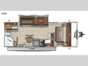 Jay Feather 25RB Floorplan Image