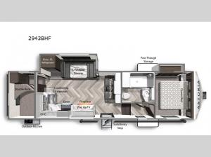 Astoria 2943BHF Floorplan Image