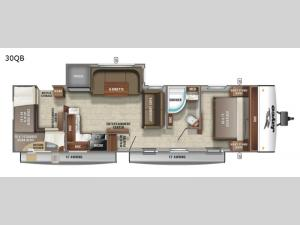 Jay Feather 30QB Floorplan Image