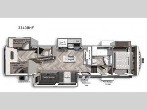 Astoria 3343BHF Floorplan Image