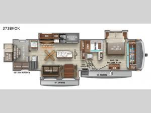 North Point 373BHOK Floorplan Image