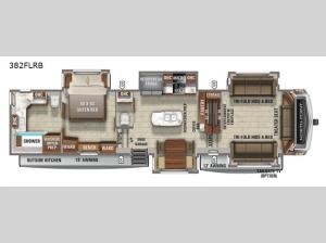 North Point 382FLRB Floorplan Image