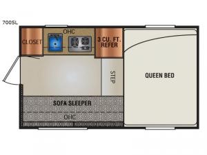 Super Lite 700SL Floorplan Image