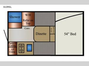 Super Lite 610RSL Floorplan Image