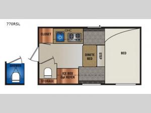 Super Lite 770RSL Floorplan Image