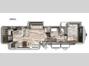 Yukon 399ML Floorplan Image