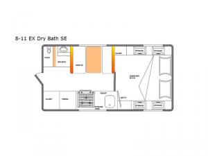 Special Edition Series 8-11 EX Dry Bath SE Floorplan Image