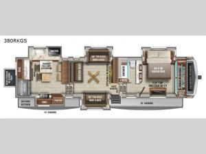 North Point 380RKGS Floorplan Image