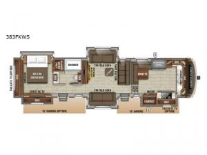 North Point 383FKWS Floorplan Image