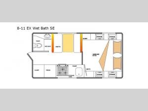 Special Edition Series 8-11 EX Wet Bath SE Floorplan Image