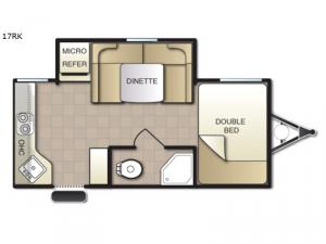 Mighty Lite 17RK Floorplan Image