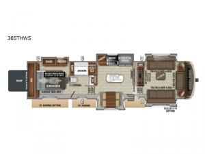North Point 385THWS Floorplan Image
