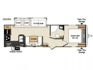 Passport 2900RK Grand Touring Floorplan Image