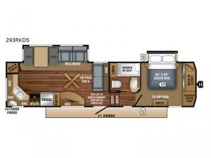 Eagle 293RKDS Floorplan Image