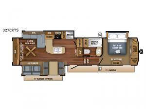 Eagle 327CKTS Floorplan Image