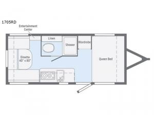 Micro Minnie 1705RD Floorplan Image
