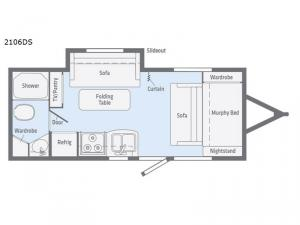 Micro Minnie 2106DS Floorplan Image