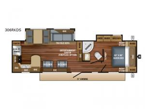 Eagle HT 306RKDS Floorplan Image