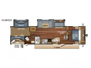 Eagle HT 314BHDS Floorplan Image