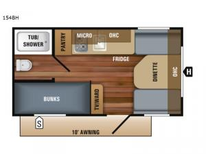Jay Flight SLX Western Edition 154BH Floorplan Image