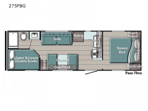 Conquest Special Edition Series 275FBG Floorplan Image