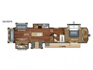 North Point 361RSFS Floorplan Image
