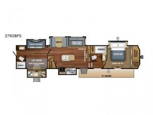 North Point 379DBFS Floorplan Image