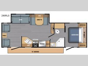 LX Series 290RLS Floorplan Image
