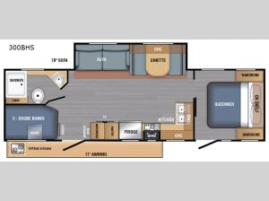 LX Series 300BHS Floorplan Image