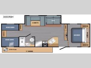 LX Series 300DRBH Floorplan Image