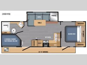 LX Series 28BHRB Floorplan Image