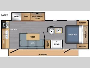 LX Series 26RKS Floorplan Image