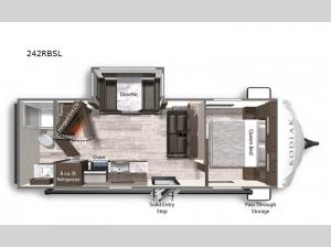 Kodiak Ultra-Lite 242RBSL Floorplan Image