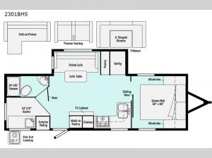 Minnie 2301BHS Floorplan Image