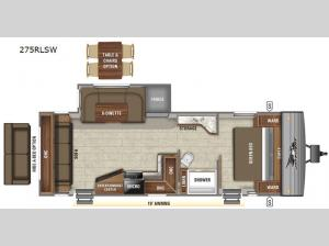 Jay Flight SLX Western Edition 275RLSW Floorplan Image