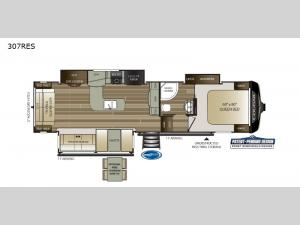 Cougar 307RES Floorplan Image